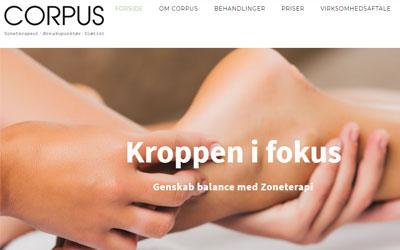 Corpus - udvikling af ny hjemmeside